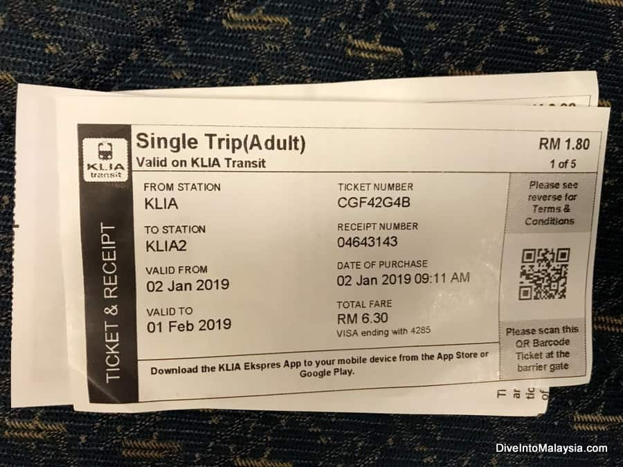 klia2 to klia express train ticket to get the train KLIA2 to KLIA