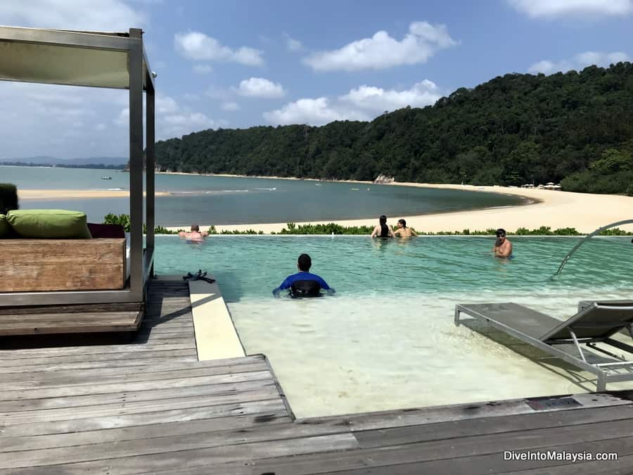 beach and pool at Club Med Cherating