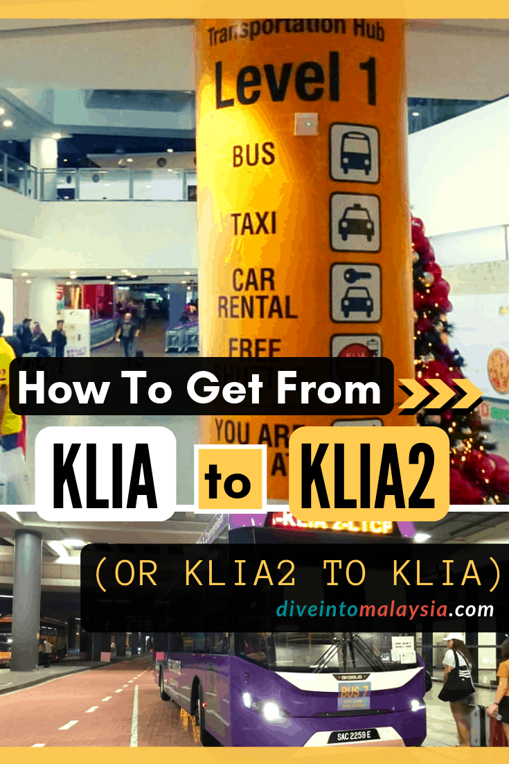 How To Get From KLIA To KLIA2 (Or KLIA2 To KLIA) Using The Free Shuttle Bus, Train Or Taxi