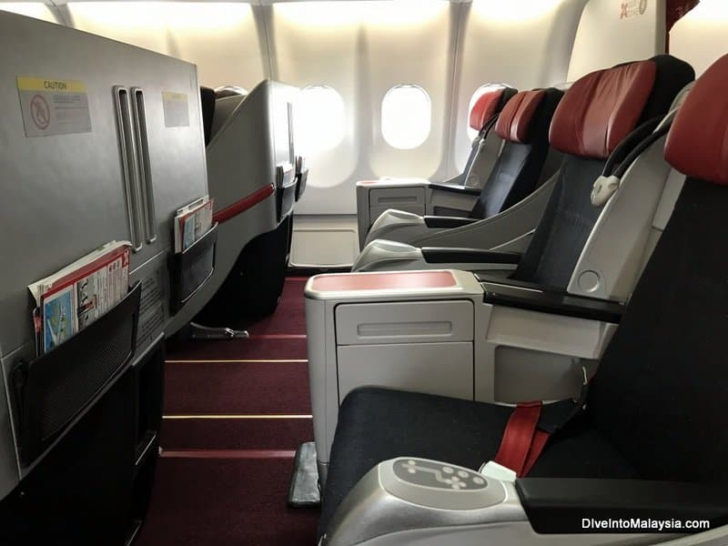 Air Asia premium flatbed review row 2
