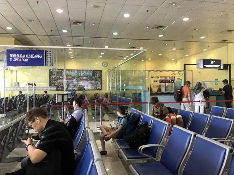 The waiting area for flights to Singapore are Kota Bharu Airport