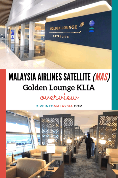 Malaysia Airlines Satellite (MAS) Golden Lounge KLIA Overview [2019]