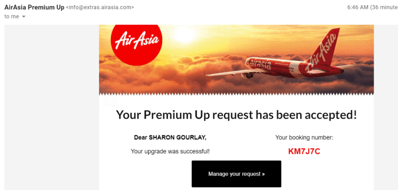 airasia upgrade to business