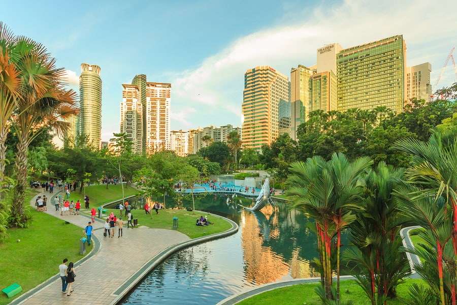places to visit in Kuala Lumpur malaysia KLCC Park