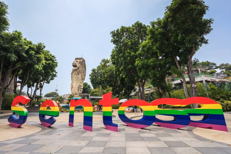 Sentosa Island and merlion