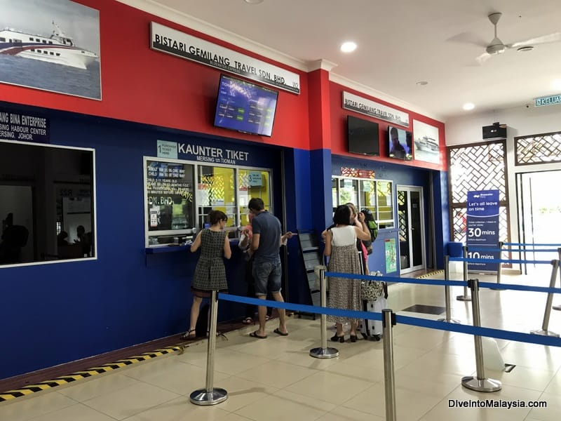 Mersing Harbour Centre Tioman ticket counters