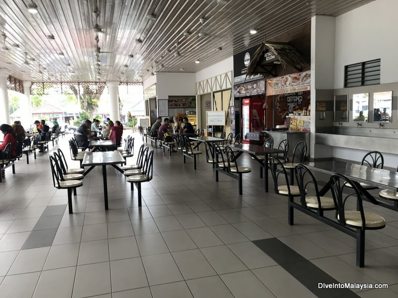 Food court at Mersing Harbour Centre