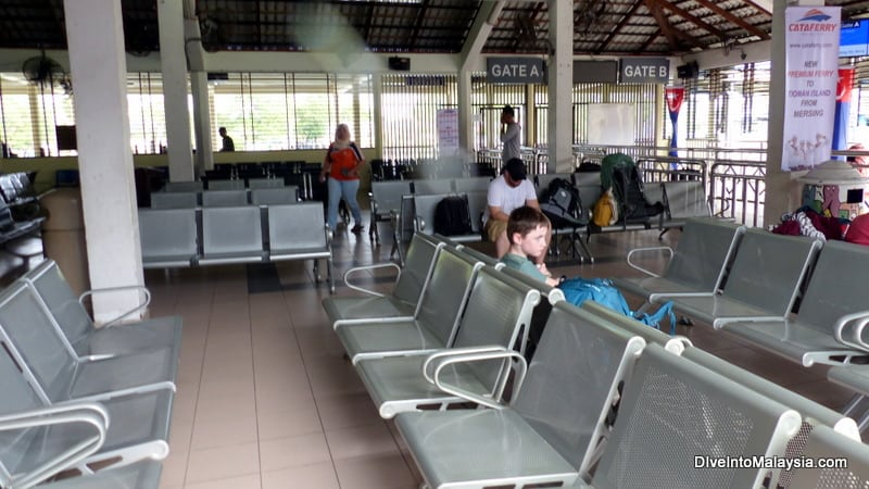Waiting area at Mersing Jetty