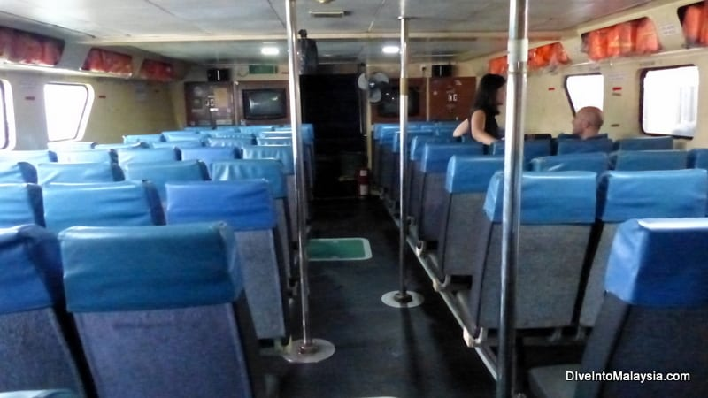 Inside the Bluewater Tioman ferry