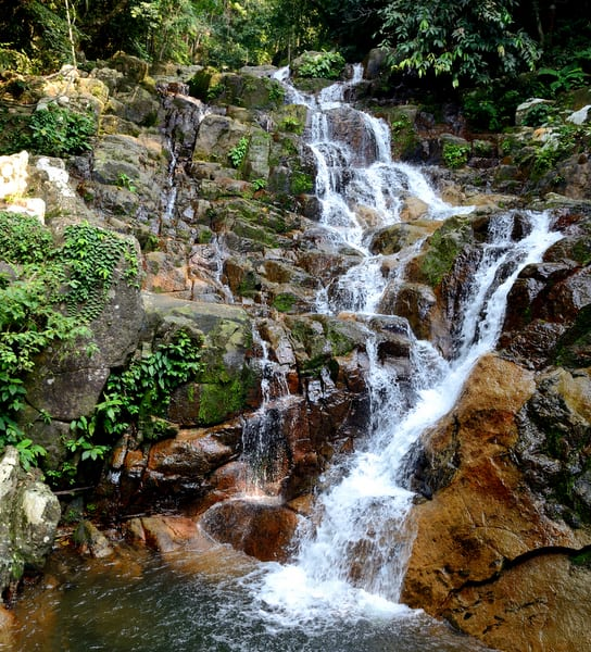 Waterfall in the jungle of Tioman island