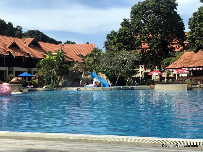 pool and water slide at Laguna Redang Resort