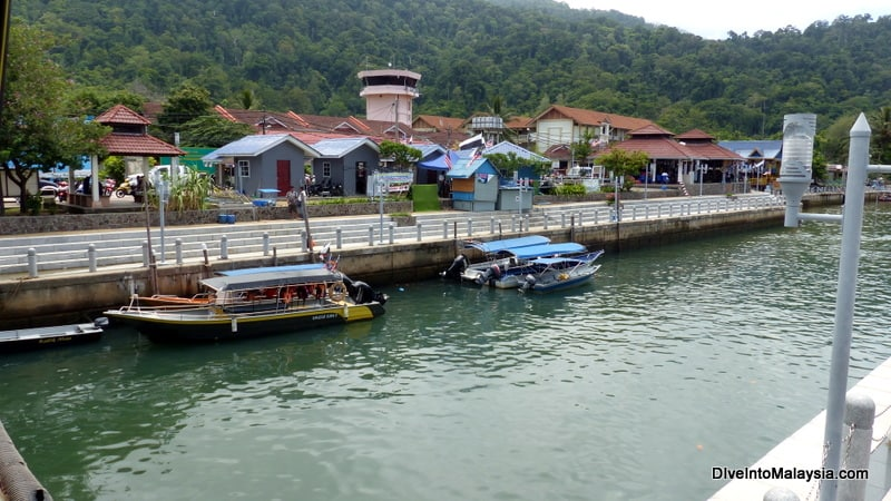 Tekek town from the main jetty