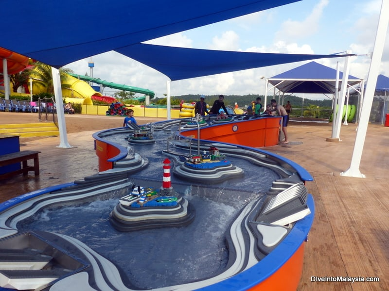 Legoland Malaysia water park boat racing