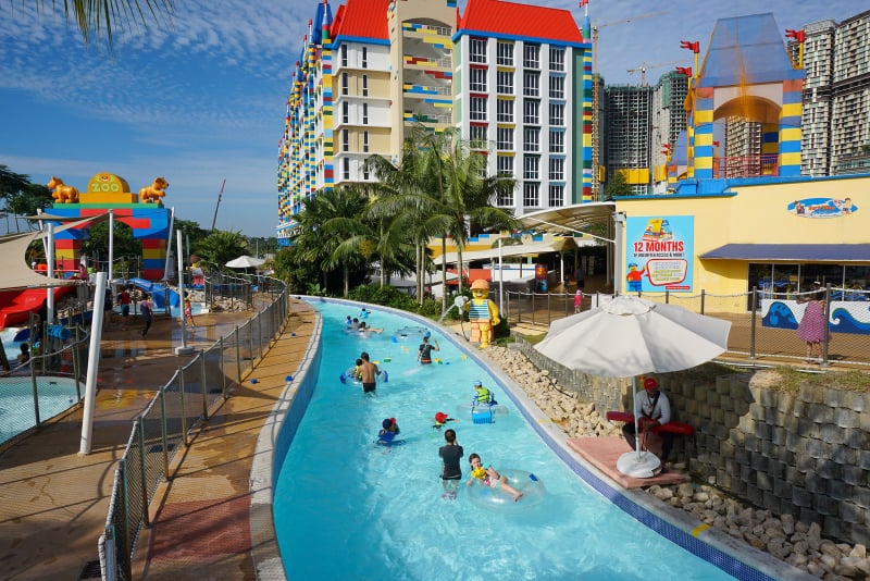 lazy river ride at Legoland Malaysia review