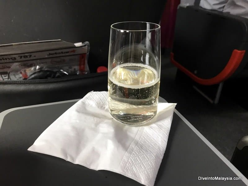My sparkling wine on boarding