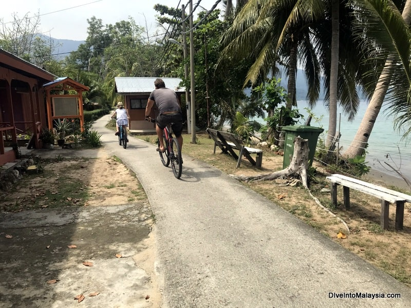 ABC Beach Tioman cycling