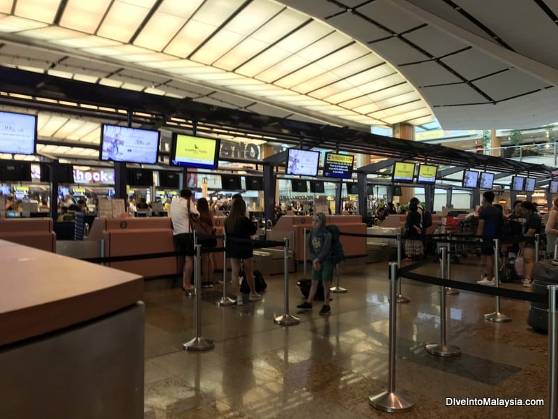 Scoot check-in Singapore Changi Airport