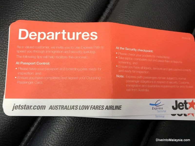 Jetstar business class express pass