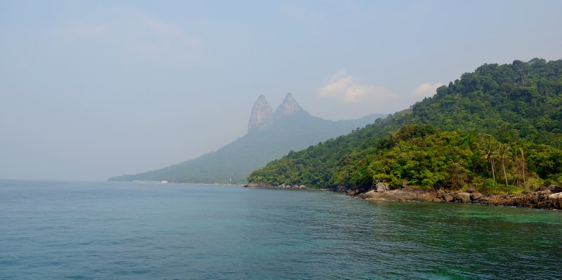 "Mountain ""Donkey's ears"" near the Mukut beach, Tioman Island attractions activities"
