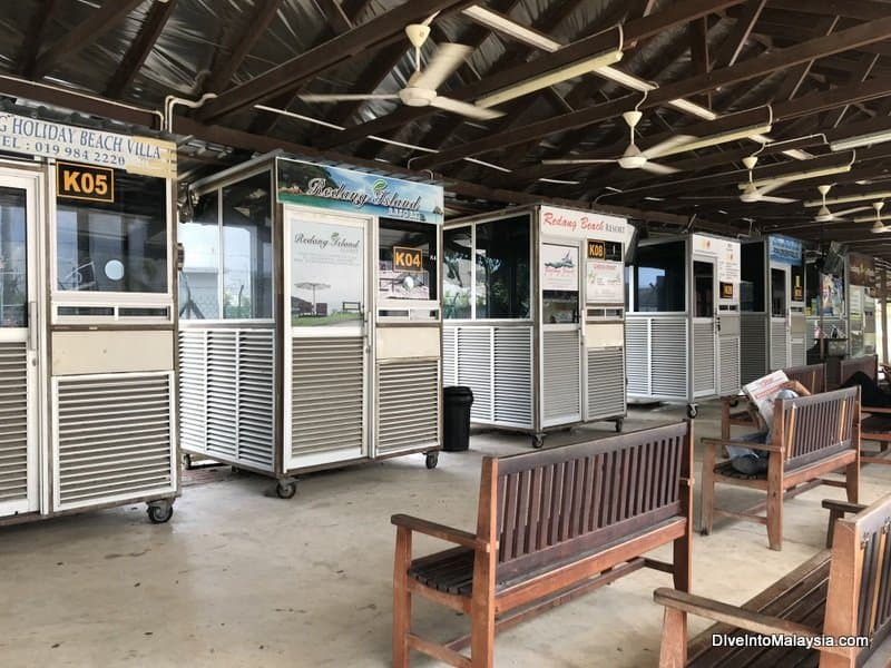 ticket booths at Shahbandar Jetty