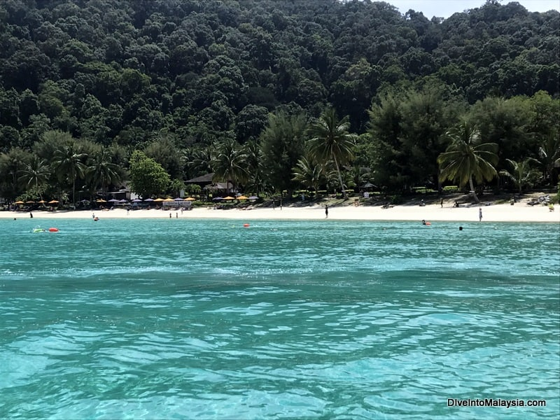 Perhentian Island Resort from the sea