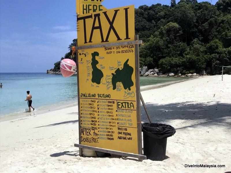 Perhentian Island Resort sea taxi prices
