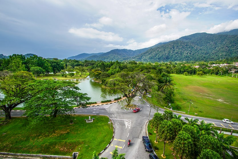 Beautiful Landscape Of Taiping Lake Gardens, Malaysia