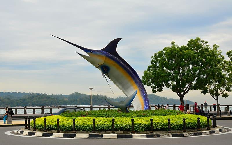 Kota Kinabalu,: Swordfish Statue