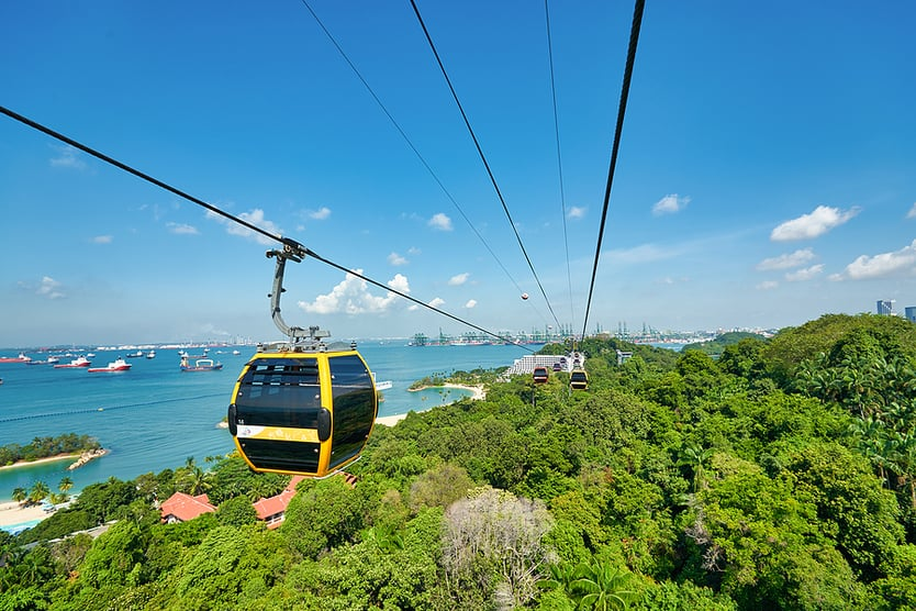 cable car in Sentosa Singapore