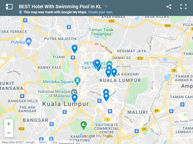 BEST Hotel With Swimming Pool In KL map