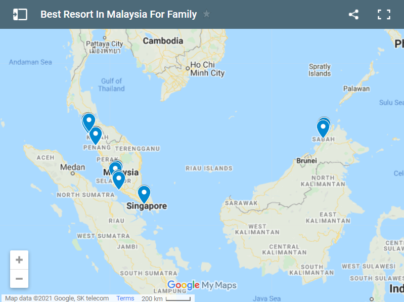 Best Resort In Malaysia For Family map