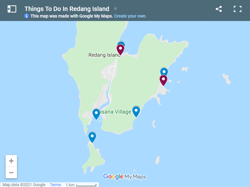Things To Do In Redang Island map